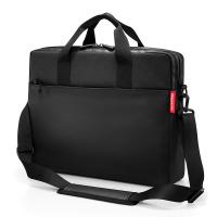 Черна изискана бизнес чанта за лаптоп 15
