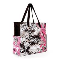 Голяма плажна чанта с тропически елементи в циклама HatYou