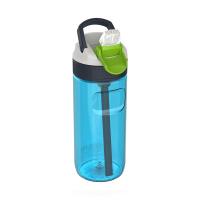 Малка синя спортна бутилка за вода 500мл Kambukka Lagoon, топаз