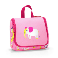 Детска чантичка за момиче за принадлежности в розово и цикламено Reisenthel Toiletbag S kids, kids abc friends pink