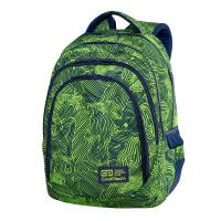 Яркозелена раница за училище CoolPack Drafter - Isogreen