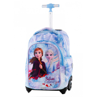 Детска светлосиня раница на колела с Анна и Елза CoolPack Jack Frozen Light