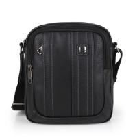 Черна мъжка чанта за през рамо Gabol Desert, еко кожа