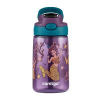 Лилава малка детска бутилка за вода за момиче CONTIGO Easy Clean Русалки, 420мл