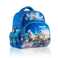 Малка синя детска раница за момче Playmobil PL-10, Полиция