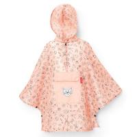 Детски розов портативен дъждобран пончо Reisenthel Mini maxi poncho, kids cats and dogs rose