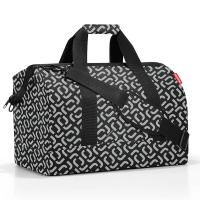 Пътна чанта в дизайн в черно и сиво Reisenthel allrounder L, signature black