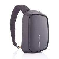 Черна чанта-раница с една презрамка XD Design Bobby Sling с място за таблет 9.7