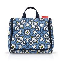 Тъмносиня тоалетна чанта за принадлежности Reisenthel Toiletbag, floral 1