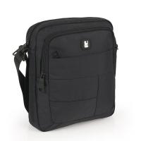 Удобна голяма черна мъжка чанта за през рамо Gabol Kendo, 24см