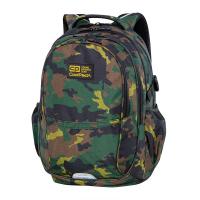 Голяма ученическа раница за момче с дизайн на камуфлаж CoolPack Factor - Military Jungle