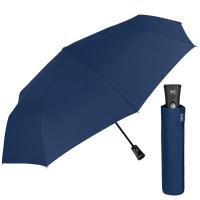 Стилен мъжки син сгъваем автоматичен чадър Perletti Technology