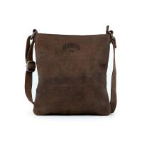 Тъмнокафява вертикална чанта за през рамо от естесвена кожа Klondike CATLYN