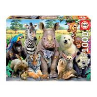 Пъзел с 1000 части с животни Educa Училищна снимка