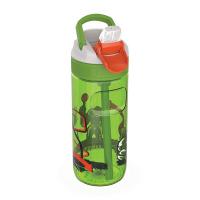 Зелена детска спортна бутилка за вода 500мл Kambukka Lagoon, баскетболист