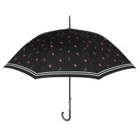 Черен дамски чадър с на червени рози Perletti Chic