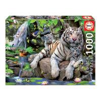 Пъзел с 1000 части Educa Бенгалски бели тигри
