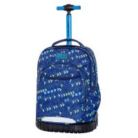 свежа синя раница на колела за училище за момче CoolPack Swift - Chevron