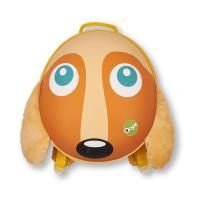 Малка жълто-оранжева раница с триизмерен дизайн Oops Куче