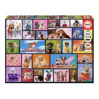 Пъзел с 1000 части с кучета Educa Споделени моменти