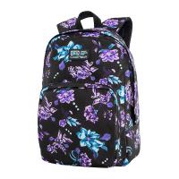 Удобна раница за училище или за ежедневието на цветя CoolPack Ohio - Violet Dream