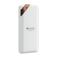 Компактна преносима батерия power bank Canyon PB-102 10000mAh, бяла