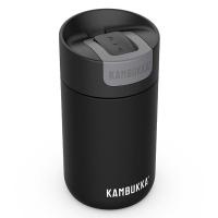 Малка черна термочаша за кафе или чай Kambukka Olympus 300мл, смолисточерна