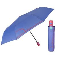 Дамски автоматичен лилав чадър Perletti Time с цикламена дръжка