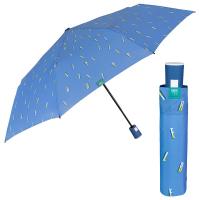 Син дамски чадър с автоматично отваряне Perletti Time