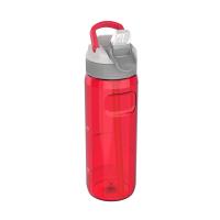 Голяма червена спортна бутилка за вода 750мл Kambukka Lagoon, рубиненочервено