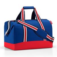 Голяма стилна пътна чанта в синьо и червено Reisenthel allrounder L, Special edition nautic