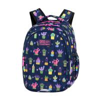 Синя раница за училище за момиче с дизайн на кактуси CoolPack Joy S - Cactus