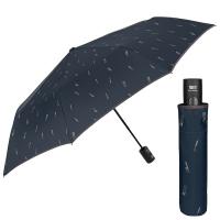 Мъжки тъмносин сгъваем чадър Perletti Technology