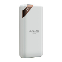 Компактна преносима батерия power bank Canyon PB-202 20000mAh, бяла