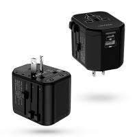Универсално USB зарядно и адаптор за пътуване Usams T16 Universal PD и QC Fast, черен