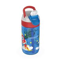 Малка детска синя бутилка за вода за момче Kambukka Lagoon 400мл, извънземен