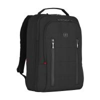 Практична черна раница за пътуване Wenger City Traveler с място за лаптоп 16