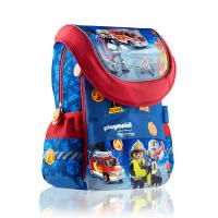 Детска раница за момче с капак и две отделения PL-02 Playmobil, пожарна