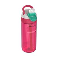 Малка червена спортна бутилка за вода 500мл Kambukka Lagoon, червена дъвка