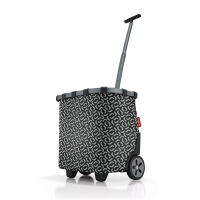 Чанта за пазар на колела в черно и сиво Reisenthel Carrycruiser, frame signature black