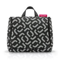 Стилна тоалетна чанта за принадлежности в сиво и черно Reisenthel Toiletbag, signature black