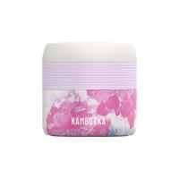 Дамска термо кутия /буркан/ за храна и супи в бяло и розово Kambukka Bora 400мл, розови цветя
