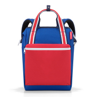 Раница и пътна чанта за ръчен багаж в синьо и червено Reisenthel Allrounder R, nautic