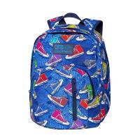 Синя раница за училище с две отделения CoolPack Discovery - Twist