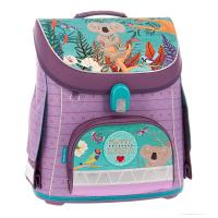 Детска лилава раница за училище с ергономичен гръб Ars Una Compact Fluffy Kirra
