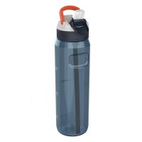 Голяма синя спортна бутилка за вода 1л Kambukka Lagoon, синьо орион