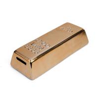 Керамично златно кюлче касичка за монети Kikkerland