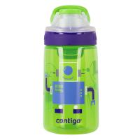 Детска зцелена бутилка за вода за момче CONTIGO Gizmo Flip - роботи, 420мл