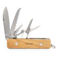 Универсално дървено джобно ножче Kikkerland Huckleberry