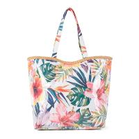 Свежа шарена плажна чанта с тропически елементи HatYou